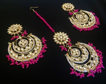 SALE on Bridal Kundan Earrings & Teeka Sets
