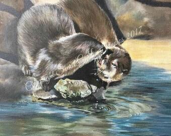 Fine Art Print - Otterly in Love