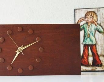 Vintage teak wood clock