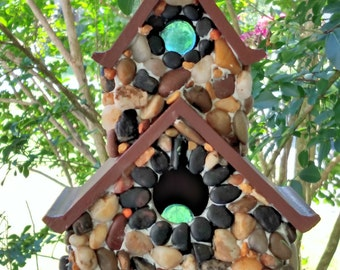 Cobblestone Bird House Double