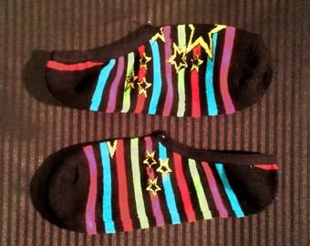 Stars & Stripes No Show Socks