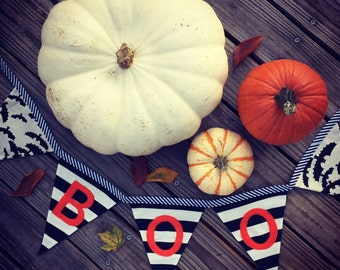 BOO banner / Halloween banner / Halloween decor / Halloween decoration / Personalized bunting banner