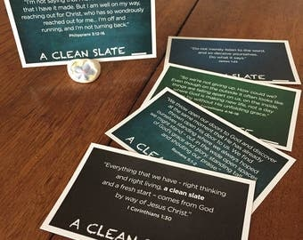 A Clean Slate Scripture Cards (15) with Card Holder