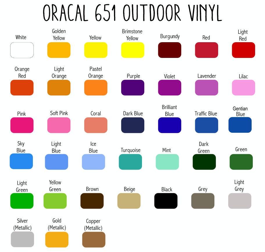 Oracal 651 Outdoor Vinyl Sheets 12x12 Or 12x24