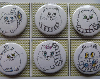 "Magnets ""Cats"" set of 6"