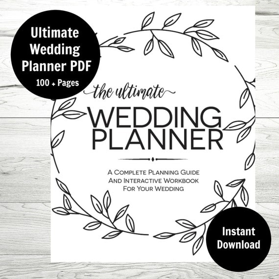 Handy image inside printable wedding planning
