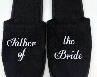 mens slippers , bestman slippers , black slippers , grooms  slippers , best man slippers , spa slippers , hotel slippers , personalised