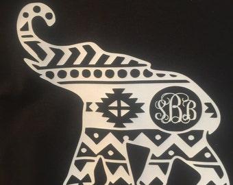 Monogrammed long sleeve elephant tshirt