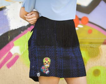 BLUE SKIRT FRINGE
