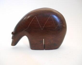 Vintage French Decorative Mahogany Bear