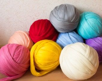 DIY Arm knitting merino wool. 3 inch stitch. Super Chunky merino wool yarn. Chunky Knitting, Giant Yarn,