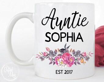 Auntie Mug, Custom Aunt Mug, Aunt Mug, Gifts for Aunts, Personalized Aunt Mug, New Aunt Gift, Aunt To Be Mug, Sister Gift, Aunt EST Mug