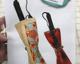 Curling Iron Case Serge-Broidery project on CD by Sue O'Very Designs #SWASP26