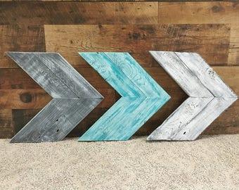 Distressed Chevron Arrows, Rustic Arrows, Rustic Wood Chevron Arrows, Wall Decor, Unique Home Decor, Wall Art, Wooden Wall Art