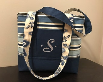 Navy Stripped Purse