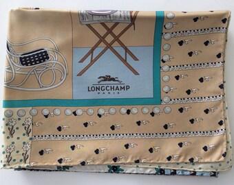 LONGCHAMP - Silk scarf vintage