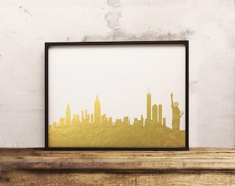 New York City Skyline  (16x20, 8x10 & 5x7) Instant Download