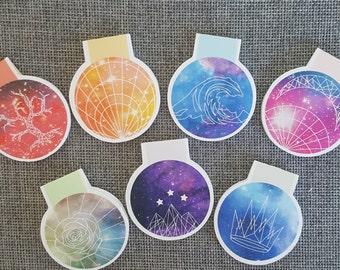 ACOMAF Galaxy Sigil Magnetic Bookmark Set