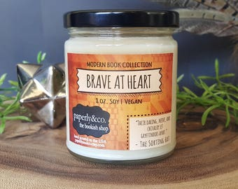 LARGE Brave at Heart 8 oz. Soy Vegan Candle