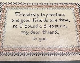 Vintage Frames & Sew Forth Friendship counts counted cross stitch design leaflet #10