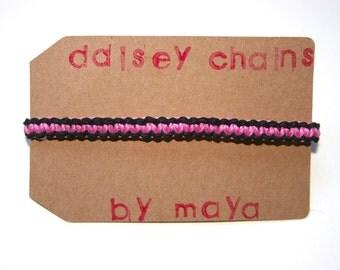 Pink Cobra Knot Friendship Bracelet