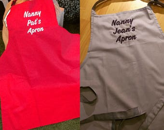 Personalised Aprons - printed
