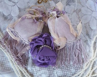 Victorian Shabby Chic Lavender Sachets set of 2