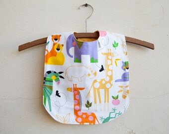 ZOO BIB reversible, extra coverage, handmade, with snaps