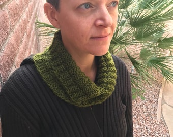 Olive Textured Cowl