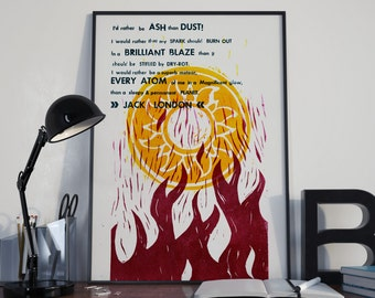 Jack London\Ash Than Dust\Letterpress Poster\Wall Art\Abstract\Poster