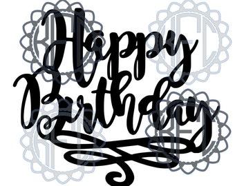 Happy Birthday(.studio3 & svg cut file)