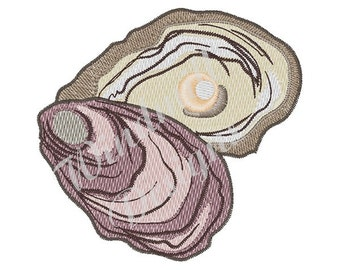 Pearl Oyster - Machine Embroidery Design
