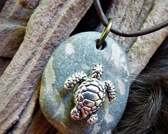 Natural Sea Turtle Necklace