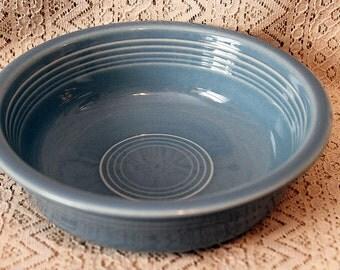 """Fiesta Ware Bowl, 7"""" Bowl, Cereal Bowl, Salad Bowl, Fiesta Blue Bowl, Fiestaware"""
