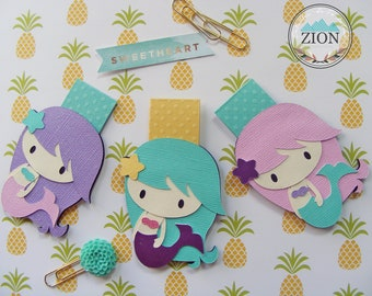 Cute Mermaids Magnetic Bookmarks | Book Supplies | Happy Planner |