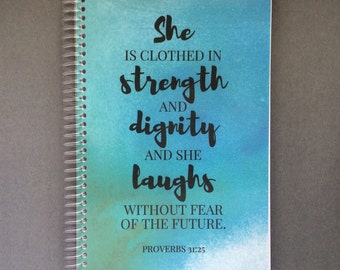 Proverbs 31:25 Planner Cover