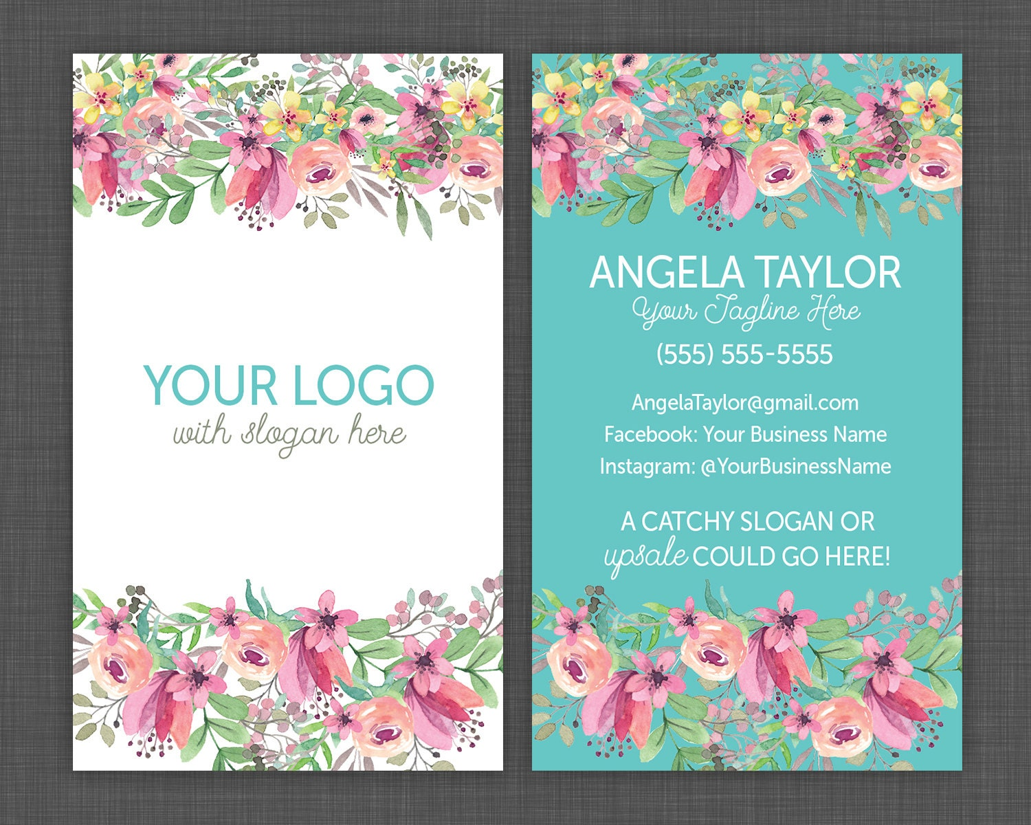 Floral business cards flower business card pretty and shabby for Florist business cards