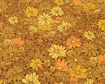 Earthtone Flower Power Oval Tablecloth