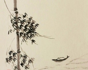 Traditional Chinese Landscape Painting Chinese Brush Painting Chinese Ink Painting Asian Painting Ink Art-Scenery Painting