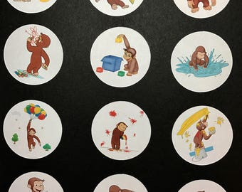 Precut Edible Curious George to decorate your cupcakes, cookies or cake with.