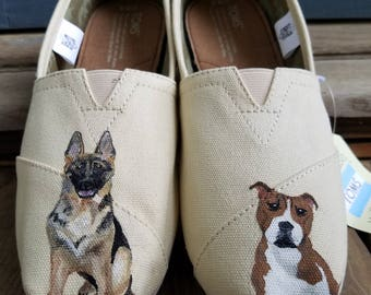 Pet Portrait Hand Painted Toms