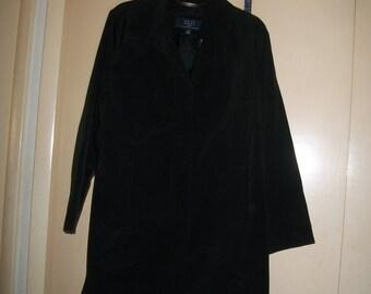 Vintage Crazy Horse (Liz Claiborne) Black, Lined Raincoat Size L