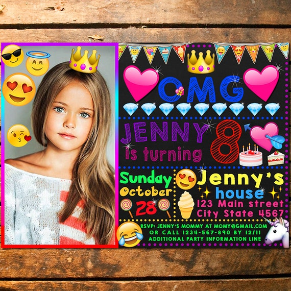 Emoji Personalized Birthday Invite