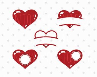 Valentine monograms Boy Valentine svg Hearts Monograms Valentine svg Heart svg Valentines Svg Heart monogram clip art Silhouette Cut File