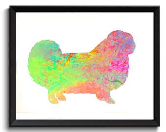 Chow Chow Artwork - Watercolor Chow Chow, Pastel Chow Chow, Songshi Quan Art, Fluffy Dog Art, Chow Chow Poster, Chow Wall Decor, Digital