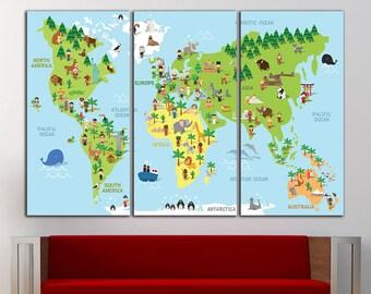 kids world map wall decor kids world map wall art nursery map kids world map print