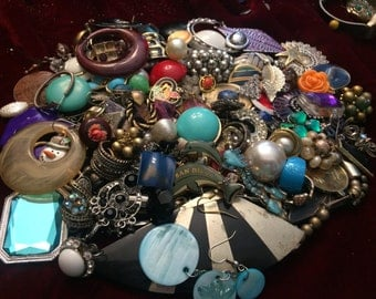 3 Lbs Broken Jewelry for Repair, Crafting or Parts Lot Mix Lot #6 - Free Shipping