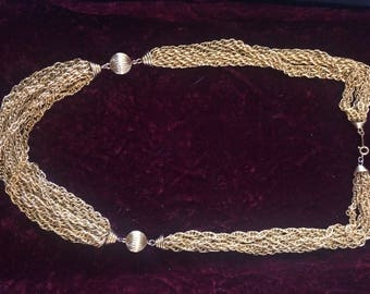 "Gorgeous Goldtone Multi Strand 23"" Necklace"
