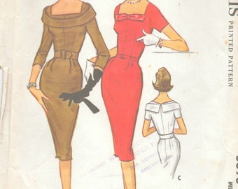 "1959 Vintage Sewing Pattern B34"" DRESS (R225) McCalls 5096"