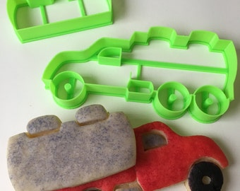 Tanker Truck Cookie Cutter Set